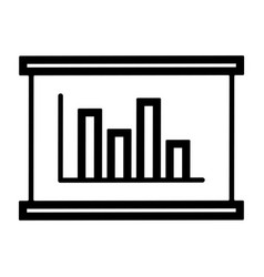 line graphic chart icon vector image