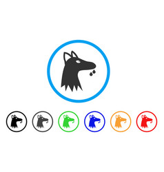 Mad dog rounded icon vector