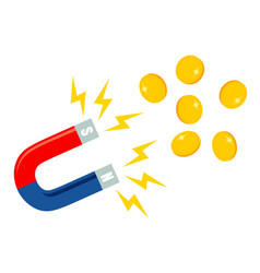 Magnet with coins vector