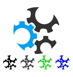 Mechanics gears flat icon vector