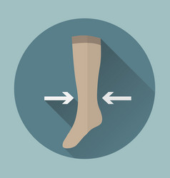Medical compression stockings vector