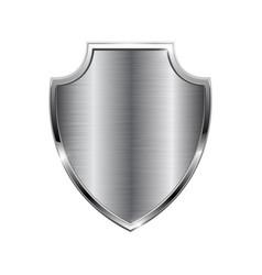 Metal 3d shield vector