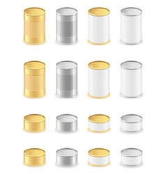 metal tin can 05 vector image