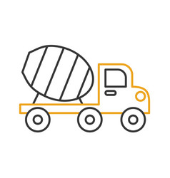 mixer construction vehicle isolated icon vector image