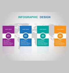 modern infographic design template banners vector image