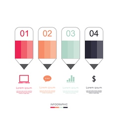 Modern infographic for education project vector