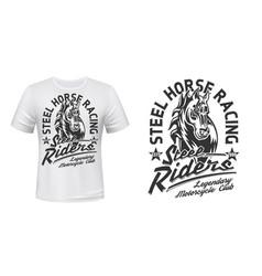 motorcycle racing club t-shirt print mockup vector image