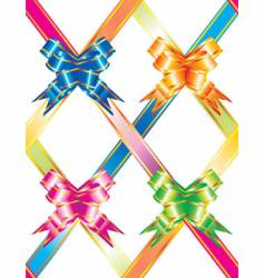 multicolored ribbons vector image