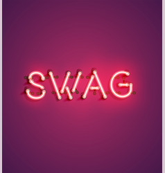 Neon realistic word for advertising vector