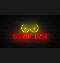 neon strip bar label template vector image