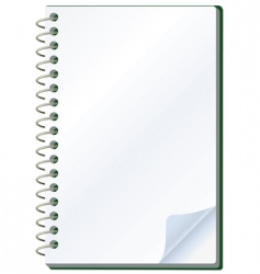 notepad object vector image