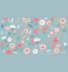 Petal and flowers vector