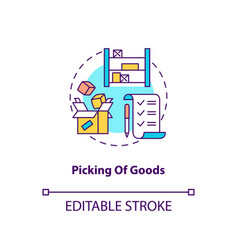 picking goods concept icon vector image