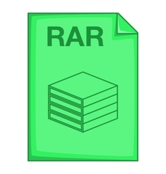 RAR file icon cartoon style vector