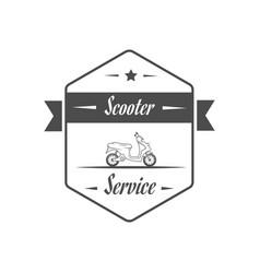 Retro scooter service vector