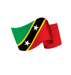 Saint kitts and nevis flag vector