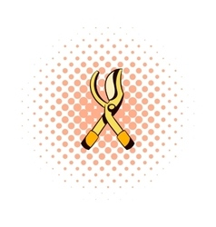 Scissors garden comics icon vector
