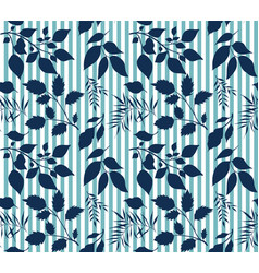 seamless beautiful forest pattern vector image