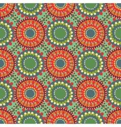 Seamless vintage retro pattern orange textile vector