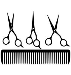 Set of professional scissors vector