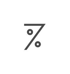 seven percent logo icon mark symbol vector image