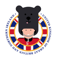 shirt printing london royal guard bearskins vector image