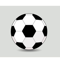 Soccer ball on white background eps10 vector