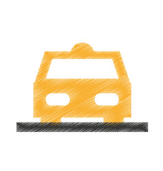 taxi car service isolated icon vector image
