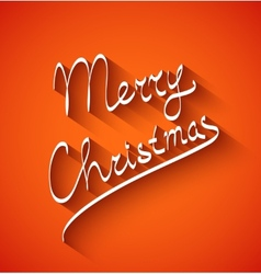 text design merry christmas on red color vector image
