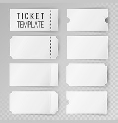 Ticket template set modern mock up wedding vector
