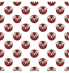 tomahawk axe indian color seamless pattern vector image