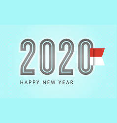 Trendy design number 2020 with flag 10eps vector