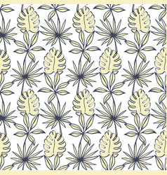 tropical leaves seamless pattern modern foliage vector image