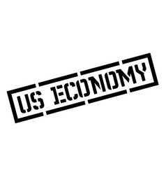 us economy black stamp vector image