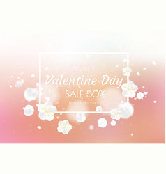 valentine s day sale poster beautiful backdrop vector image