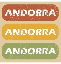 Vintage Andorra stamp set vector