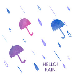 watercolor umbrella set vector image
