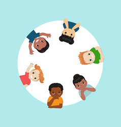 worlds children in a circle the worlds vector image