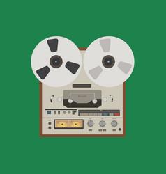 bobbin tape recorder vector image