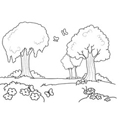 cartoon wood for kids coloring vector image vector image