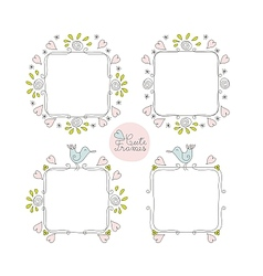Doodle Cute Frames Set vector image vector image
