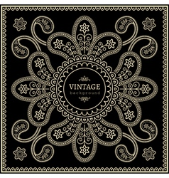 Gold decoration on black vector image vector image