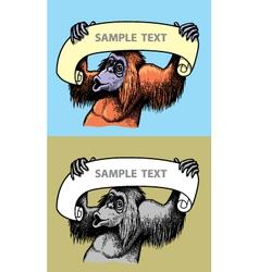 Orangutan Hand Drawn vector image vector image