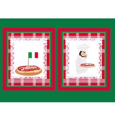 Pizza Menu Template set vector image vector image