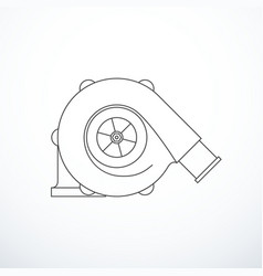 turbocharger isolated vector image vector image