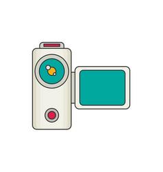 Video camera flat vector