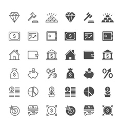 Business and investment icons vector image