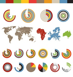 Different chart and indicators collection with the vector image