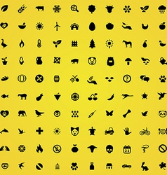 100 ecology icons vector image vector image