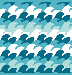 abstract simple wave seamless pattern background vector image